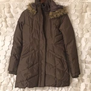 New York & Company Brown puffer coat